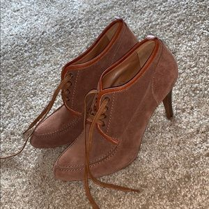 J. Crew brown suede heels